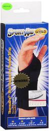 Sport Aid Gold ThermaDry3 Wrist Support with Tension Strap Medium - 1 ea., Pack of 3