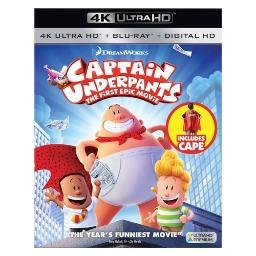 Captain underpants-1st epic movie (blu-ray/4k-uhd/digital hd/cape) BR105503