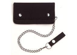 Rothco Black Trucker / Biker Wallet with Chain and Snap Belt Loop 10631