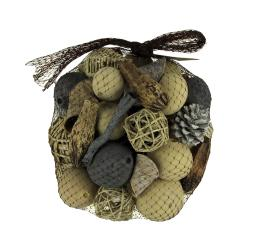 Neutral Beige Decorative Mushroom Mix Assorted Dried Botanicals In a Bag