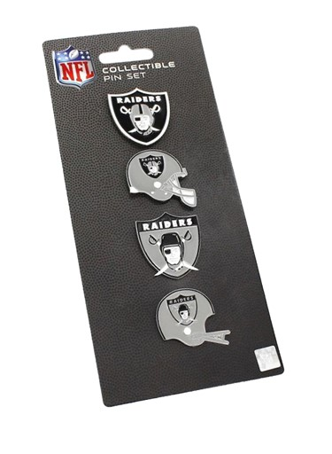 3a0a12d78 Sports Team Logo NFL Oakland Raiders 4 Pin Collectible Sets. by Aminco  International inc