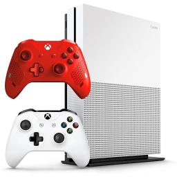 Microsoft Xbox One S 1TB Video Game Console Bundle and Extra Sport Red Controller