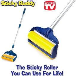 "Jumbo Sticky Buddy - Reusable Washable Clothes Lint Pet Hair Fluff Remover - 8"" Roller STICKYBUDDY"