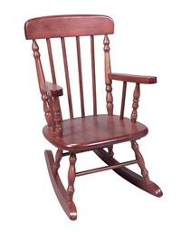 Gift Mark Deluxe Child's Spindle Rocking Chair - Cherry