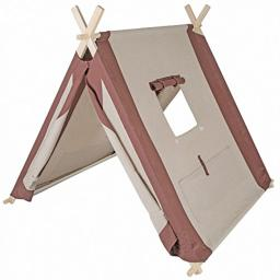 """Pacific Play Tents 60000 Kids Natural Linen A-Frame Teepee Playhouse - 45"""" x 42"""" x 35"""""""