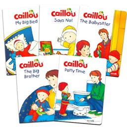 Caillou Book Set for Toddlers Kids -- 5 Toddler Development Books, Including Potty Time Book (Party Supplies)