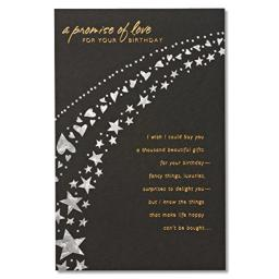 American Greetings A Promise Of Love Birthday Card for Sweetheart with Foil