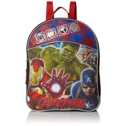 Animewild Boys' Avengers Mini Backpack with Hulk, Ironman and Captain, BLACK/BLUE/RED