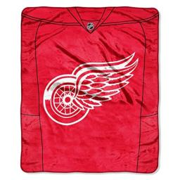 "The Northwest Company Officially Licensed NHL Detroit Red Wings Jersey Plush Raschel Throw Blanket, 50"" x 60"""