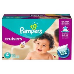 Pampers Cruisers Diapers Size 4 152 Count (old version)