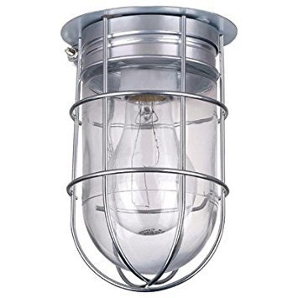 Canarm Ceiling/Wall Barn Light with Cage - 120V, Model# BL04CWG