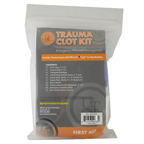 Ultimate Survival Technologies 20-02723 Ultimate Survival Technologies 20-02723 Trauma Clot Kit 485C69AED24C9E83
