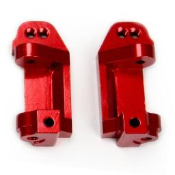 Traxxas Stampede 1:10 Aluminum Alloy Caster Block Hop Up Upgrade, Red by Atomik RC - Replaces Traxxas Part 3632