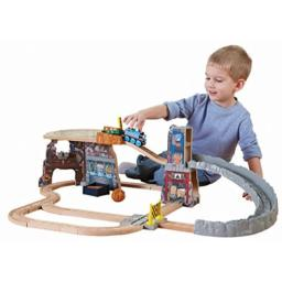 Fisher-Price Thomas & Friends Wooden Railway, Thomas' Fossil Run Train Set (Tale of The Brave)