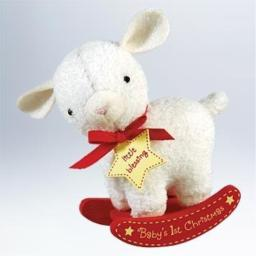 Hallmark 2011 Baby's First Christmas Plush Lamb Keepsake Ornament
