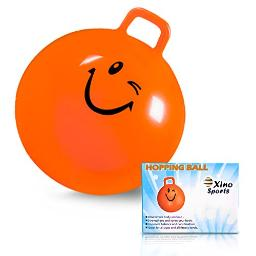 Xino Sports Hopping Ball For Kids Teens And Adults, Offers Hours Of Fun For Boys & Girls, Hopper Ball, Jumping Ball With Handle, 22 Inch Diameter (Orange)