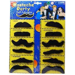 Generic 12 Piece Mustache One Sheet Baby Toys
