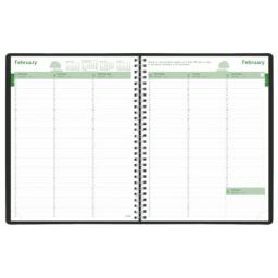 Brownline 2011 EcoLogix Weekly Planner, Twin-Wire, Black, 11 x 8.5 Inches (CB425W.BLK)
