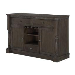 Wooden Server with Display and Storage Space, Brown