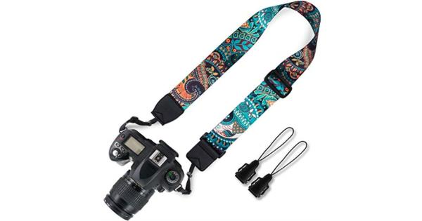 Elvam Adjustable Universal Men and Women Camera Strap Belt Compatible for All DSLR Camera SLR Camera Instant Camera and Digital Camera - Green Pattern Elvam Adjustable Universal Men and Women Camera Strap Belt Compatible for All DSLR Camera SLR Camera Instant Camera and Digital Camera - Green Pattern