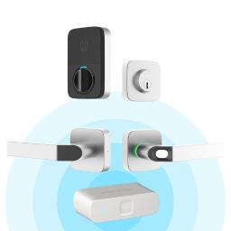 Ultraloq Combo Bluetooth Enabled Fingerprint and Key Fob Two-Point Smart Lock + Bridge WiFi Adaptor