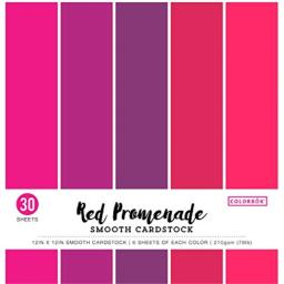 """ColorBok 73473B Smooth Cardstock Paper Pad Red Promenade, 12"""" x 12"""""""