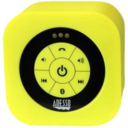 Adesso Bluetooth 3.0 Waterproof Speaker - Retail Packaging - Yellow