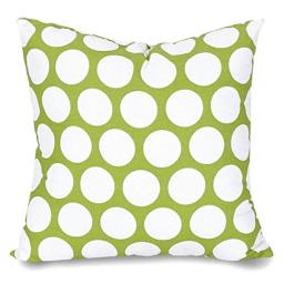 "Majestic Home Goods Hot Green Large Polka Dot Indoor Large Pillow 20"" L x 8"" W x 20"" H"