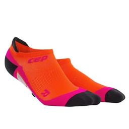CEP Womens No Show Running Socks No Show Compression (Sunset/Pink) II