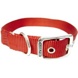 "Hamilton Single Thick Dog Collar [Set of 3] Size: 14"", Color: Mango"