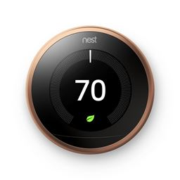 Nest Thermostat Wifi Learning 3rd Generation T3021US Copper