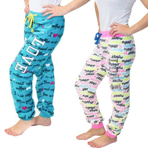 . 64% Off! .-2-Piece Pack Women's Fluffy Pants only $18 (was $50) with Free Shipping. Available in 2 designs per pack and 4 sizes