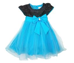 Z by Yoon Girls Black Top Turquoise Dress SD144GBLKTURQ