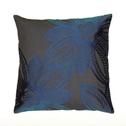 "Rizzy Home T06465 Decorative Poly Filled Throw Pillow 18"" x 18"" Blue"