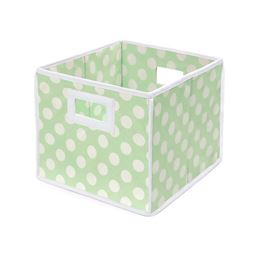 Badger Basket Co Folding Basket/Storage Cube - Sage Polka Dot