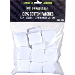 Breakthrough Cleaning Bt-cp-sqr-1-3/4 Breakthrough Cleaning Patches 1 3/4 Square .270-357 500 Pck