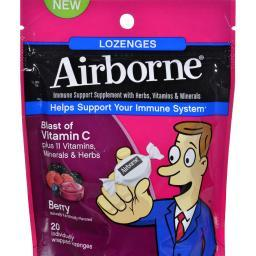 Airborne Lozenges With Vitamin C - Berry - 20 Count