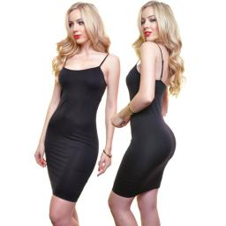 Angelina Women's Seamless Spaghetti Strap Dress - Size L/Xl