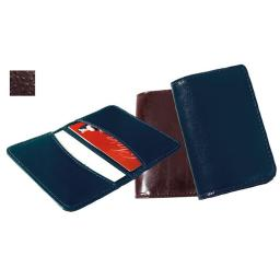 Raika AN 112 BROWN 2.75in. x 4.125in. Full Leather Business Card Case - Brown