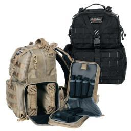 G.P.S. Tactical MOLLE Range Backpack w/Three Removable Pistol Cases/Mag Storage GPS-T1612BPT