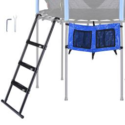 """Yescom 43"""" Trampoline Ladder Kit with Shoe Bag 3 Step Anti Skid for 15 Ft Bounce Kid"""