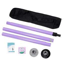 AW® Portable Dance Pole Full Kit Package Exercise Club Party Weight Loss Fitness 50mm w/ Bag Purple