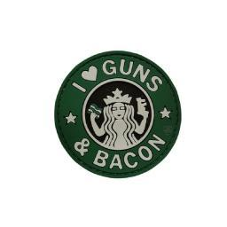 """5ive Star Gear Guns And Bacon Morale Patch, 2.25"""" Vinyl Patch"""