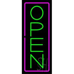 Sign Store N100-5789-clear Open Clear Backing Neon Sign, 13 x 32 x 1 In.