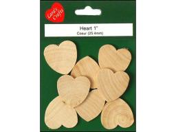Laru 10085 lara s wood pkg heart 1x1 8 8pc