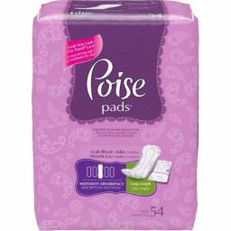 Kimberly Clark 6933590 12.4 in. Depend Poise Moderate Long Pads