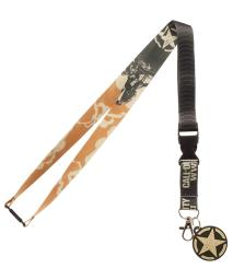 Call Of Duty WWII Video Game ID Lanyard Badge With 2″ Rubber Charm Pendant