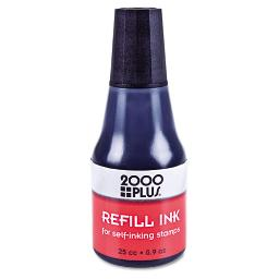 Self-Inking Refill Ink Black 0.9 OZ . Bottle   Total Quantity: 1