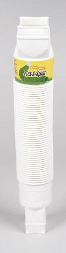 Amerimax 85010 Flexible Downspout Extension, White