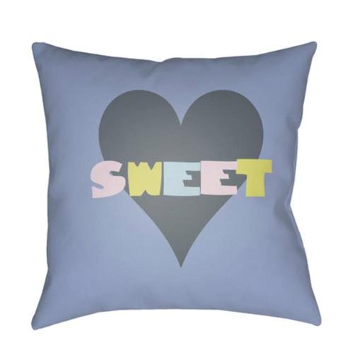 Surya LI011-2222 Littles 22 x 22 x 5 in. Throw Pillow, Grey - Large